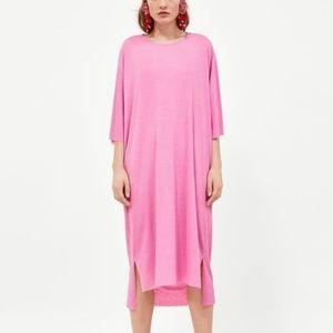 Zara | Bubblegum Pink Oversized Textured Dress